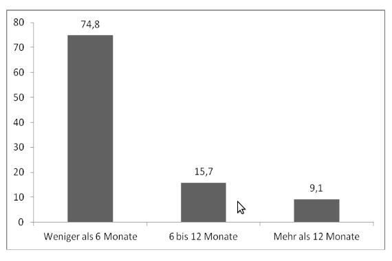 Vertragslaufzeit (3 Kategorien, in Prozent)